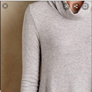 Anthropologie Tops - Anthropologie Deletta Ribbed Turtleneck Tunic